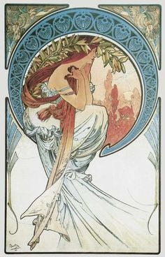 Poetry, Alphonse Maria Mucha (1860-1939, Czech Republic)