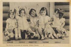 Mimi's Musing: Dionne Quintuplets, 1936