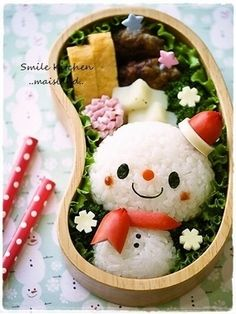 Snowman bento