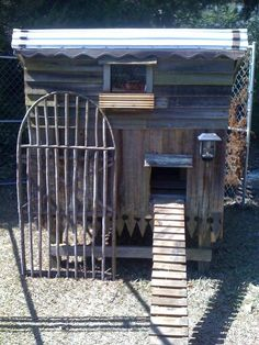 My new chicken coop made from all reclaimed stuff
