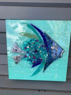 Glass Rainbow Fish Outdoor Art