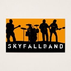 Simple rock band business cards rock bands business cards and band rock singers performance entertainment business card colourmoves