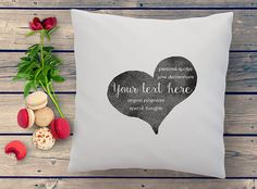your personal love message in a heart hand printed on a quality cushion; custom message cushion in high quality Hand printed custom cushions, unique and personal christmas gifts Gifts For Mum, Gift For Lover, Baby Gifts, Personalized Pillow Cases, Heart Pillow, Custom Cushions, Personalized Christmas Gifts, Love Messages, Kids Decor
