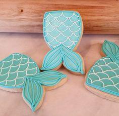 Mermaid tail cookie