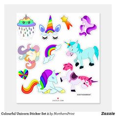 Glue-On /& Iron On Patch w Cute Fantasy Fairy Tale Rainbow Mystical Unicorn Style 2.5 x 2.8 Inch Custom Made Purple White 1 of Sew-On