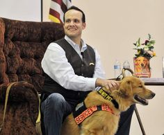 """[Tuesday, May 19, 2015] """"Service dog inspires author, a disabled Army veteran"""" by Chloe Wertz for TRIB TOTAL MEDIA 