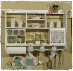 Küchenregal, Wandregal, Schüttenregal, Shabby chic von Ansolece auf DaWanda.com