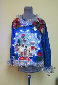 Best Ugly Christmas Sweater, Tacky Christmas, Christmas Snow Globes, Christmas Banners, Merry Little Christmas, Christmas Bulbs, Christmas Parties, Winter Wonderland Lights, Wooden Ornaments