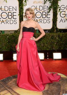 Taylor Swift in Carolina Herrera atthe 2014 Golden Globes