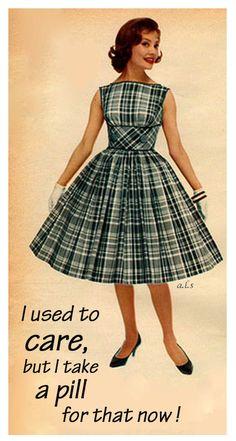 I never thought I'd laugh again until I saw your new girlfriend. Retro Humor, Vintage Humor, Retro Vintage, Retro Funny, Funny Vintage, Vintage Outfits, Vintage Dresses, 1960s Fashion, Vintage Fashion