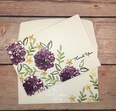 What I Love Thank You | Stampin' Up! | What I Love | One Layer Card #literallymyjoy #thankyou #twostepstamping #2016SaleABration