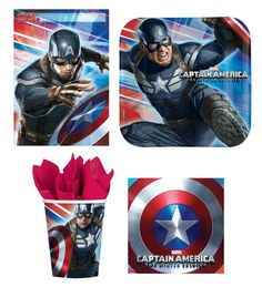 Captain America Party Supplies YES! https://www.partyzone.com.au