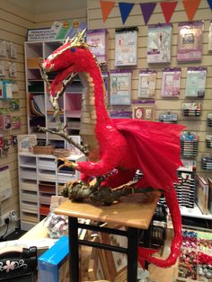 Paper Dragon ready for St Davids Day Saint David's Day, Cymru, Welsh, Countries, Boston, Saints, Dragon, Paper, Crafts