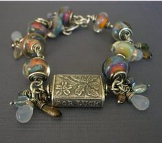 lucky bracelet Anne Choi focal bead with lampwork by archaicdesign, $ 360.00