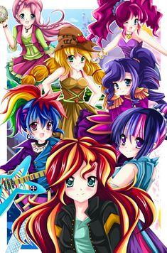 MLP: Equestria Girls- Friendship Through The Ages by kiriche.deviantart.com on @DeviantArt