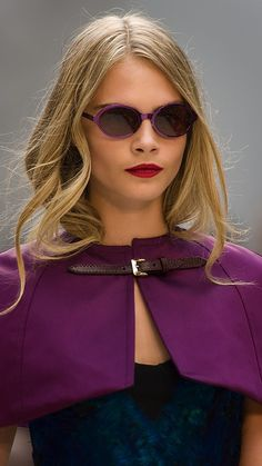 bfc64375dcfb Cara Delevingne wearing Splash Sunglasses on the Burberry runway Burberry  Sunglasses