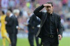 """El Cholo Simeone, ayer: """"este partido no merece una lágrima. Cuando uno da la vida por el objetivo, no hay nada que deba reprocharse""""."""