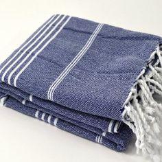 $16.99 Amazon.com: Turkish Large Quick Dry Bath Hamam Spa Sauna Beach Gym Yoga Baby Bath Towel Peshtemal 100% Cotton Dark Blue Color: Home & Kitchen