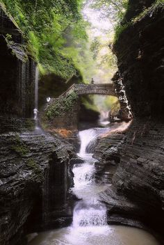 Watkins Glen State Park, New York, USA.