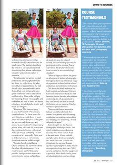 Boutique magazine article
