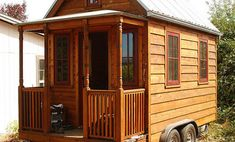 Tiny house parking is something you need to consider if you choose to live in a tiny house on wheels. Below are some options for you to choose from. Building A Small Cabin, Shed Building Plans, Shed Plans, Building A House, Off Grid Tiny House, Tiny House Living, Tiny House On Wheels, Small Living, Living Spaces