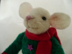 Miniature Needle felted Needlecrafted Christmas by grannancan, $35.00