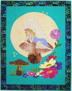 Peter Pan - Tink art quilt by Pat Busby | Cover to Cover Book Club Quilters