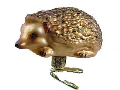Glass Clip On Hedgehog Quilling Spines Animal Old World Christmas Ornament #OldWorldChristmas