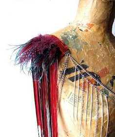 feather shoulders