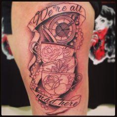 alice in wonderland tattoo | In Progress David Mushaney Tattoos :