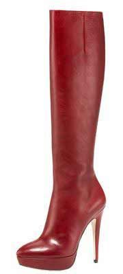 miu-miu-red-knee-boots - Too pointy and heels are too high but they're nice to look at... :)