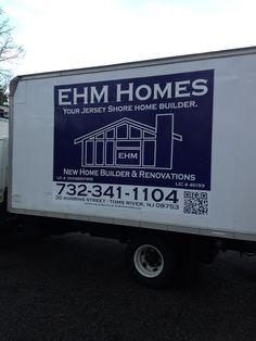 EHM Homes partial truck wrap. #globaltechnj #globaltech #sign #banner #wraps #vehiclewrap