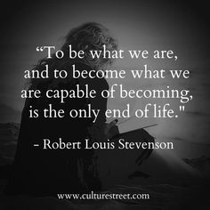 Culture Street | Quote of the Day from Robert Louis Stevenson