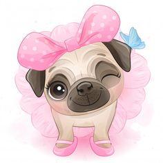 Cute Pug Puppies, Cute Pugs, Baby Puppies, Bulldog Puppies, Small Puppies, Terrier Puppies, Boston Terrier, Boat Cartoon, Cute Cartoon