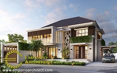 Muhajir Private House - Aceh- Quality house design of architectural services, experienced professional Bali Villa Tropical designs from Emporio Architect. Spanish House Design, Modern House Design, Indian Architecture, Architecture Design, Bali House, Architectural Services, Stair Decor, Dream Home Design, Floor Design