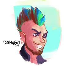 Moooore color experiments  . . . . . #art #drawing #guy #rock #rocker #style #rockstar #eyes #punk #mohawk #cartoon #sketchbook #sketch #doodle #dibujo #ojos #arte #digitalart #kylebrush #smile #happy #photoshop #wacom #arte #artista #peru #illustration #character #expression #expressions #color
