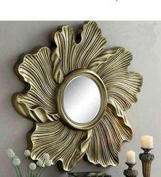 Beautiful resin Mirror, but Imagine this larger! Sun Mirror, Sunburst Mirror, Metal Mirror, Mirror Art, Beautiful Mirrors, Round Mirrors, Home Decor Furniture, Furniture Design, Glass Design