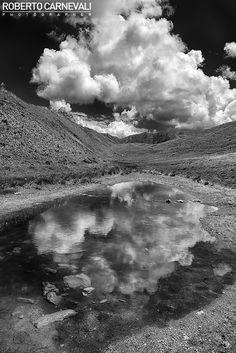 """Back to Skyfall"" - (Ritorno a Skyfall)    Italian mountain landscape photography in black and white.  (Monte Elmo, Alta Pusteria, Italy)  © Roberto Carnevali"
