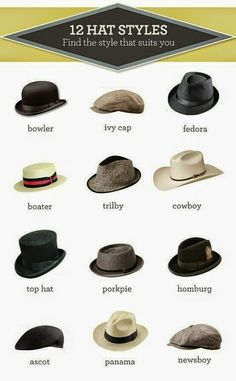 6ffc6d20500 Hats i ve seen the newsboy hat also called a flat cap.hats have to fit well  to the face shape and personality though