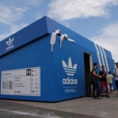#Adidas pop up shop.