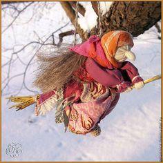 Народные куклы ручной работы. Ярмарка Мастеров - ручная работа. Купить Баба Яга. Handmade. Баба яга, текстильная кукла