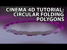 Cinema 4D Tutorial: Circular Folding Polygons - YouTube