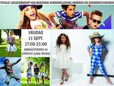 Laatste kans! Totale zomer leeg verkoop merkkinderkleding en tevens start van de winter outlet en samples -- Utrecht -- 11/09