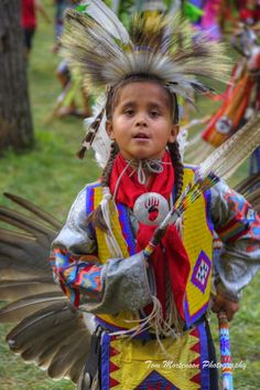 Confident Young Brave Menominee County Pow-Wow