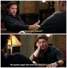 Supernatural 12.19- Wow, they just calmly mentioned Gadreel!