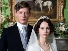 """James Norton and Felicity Jones in """"Cheerful Weather for the Wedding"""""""
