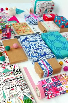 Colour Texture Pattern paperandcloth: P&C xmas giftwrap launched in new notonthehighstreet store