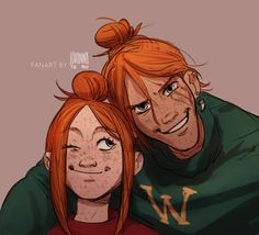 Ginny and Bill Weasley by JohannaTheMad. Harry Potter