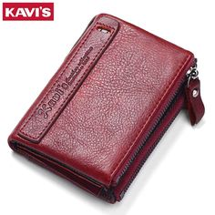 KAVIS 2017 New Vintage Small Women Wallets Female Genuine Leather Womens Wallet Zipper Design With Coin Purse Pockets Mini Walet //Price: $38.97 & FREE Shipping //     #Clothing