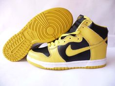 new product 84d22 917e0 Nike Dunk High Vintage Be True To Your School Yellow Black